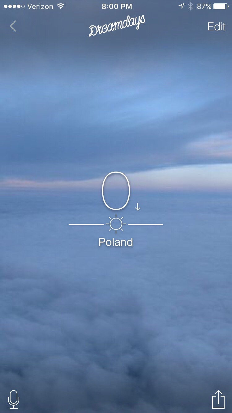 0 Days until I arrive in Poland
