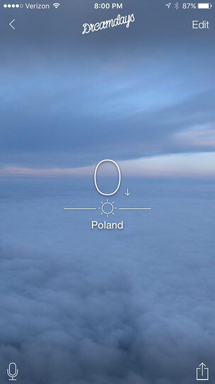 0 Days until I arrive in Poland