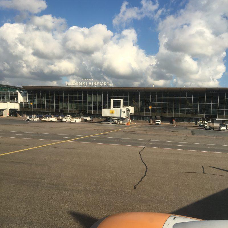 Arrivals at Helsinki Airport